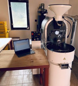 Our Coffed SR-5 production roaster