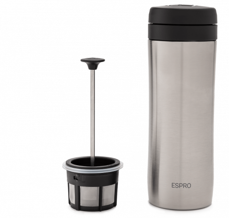 Espro Travel Press 300ml - Colour: Stainless steel