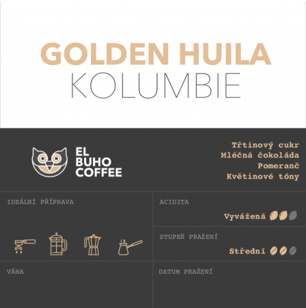 Golden Huila - Packaging: 250g